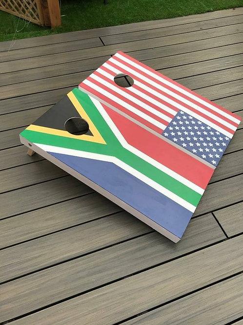 South Africa vs USA Flags set