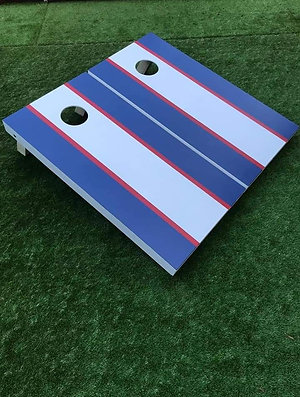 Hand painted stripes large cornhole game