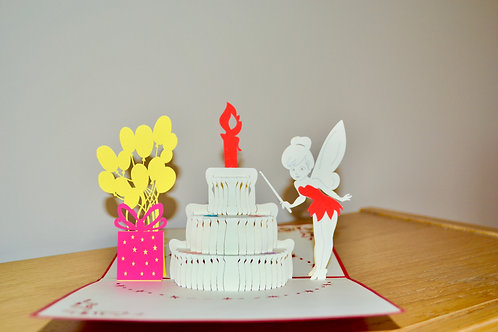 Birthday Tinker Bell Pop up Card