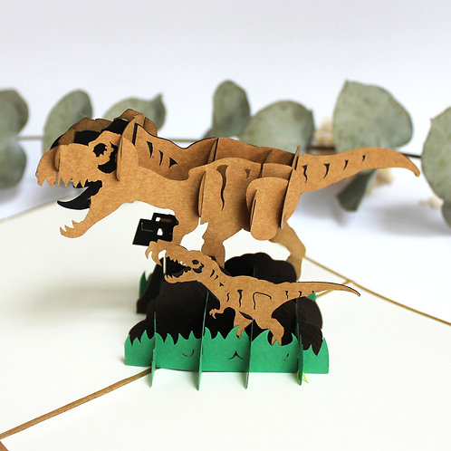 Dinosaurs Pop up card