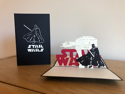 Star Wars Pop up card