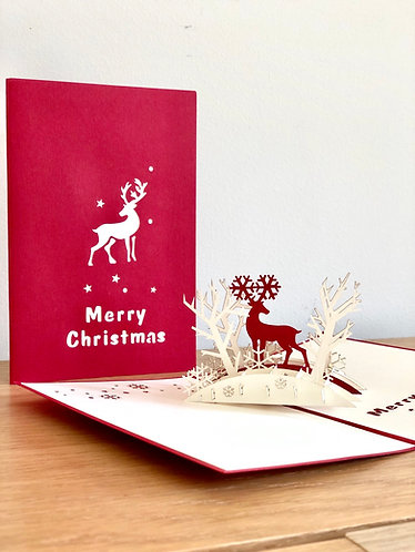 Christmas Forest pop up card