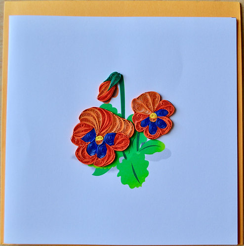 Pansy Quilling card