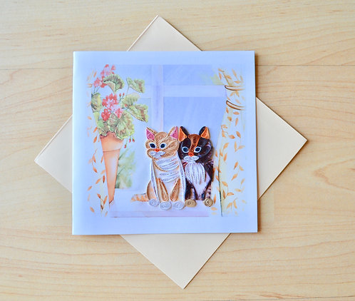 Cats Quilling card
