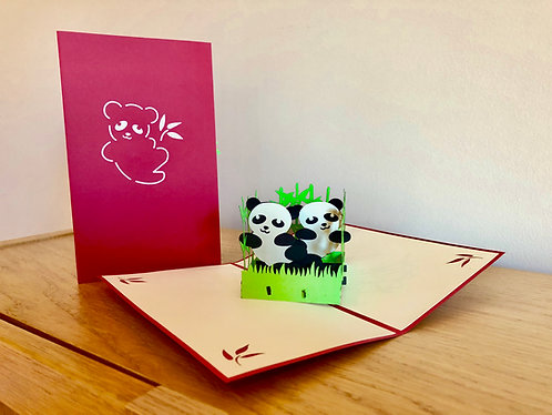 Pandas Pop up card