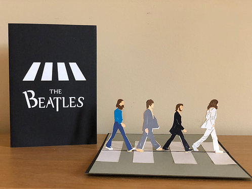 The Beatles pop up card
