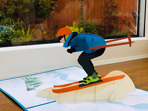 Skiing pop up cards