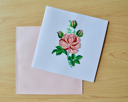 Roses Quilling card