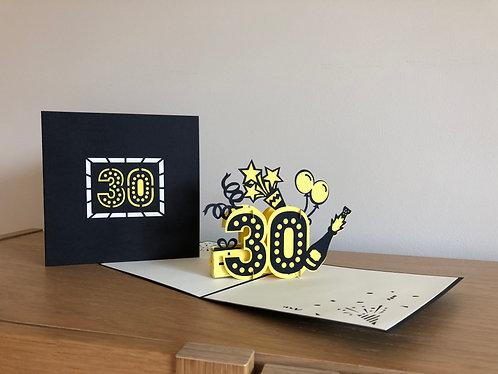 Anniversary Pop up card (30, 40, 50)
