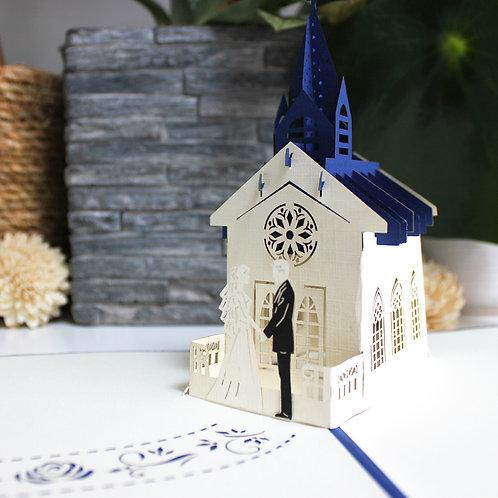 Wedding in Church - Marriage Pop up card