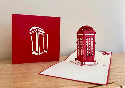 Telephone Box Pop up card