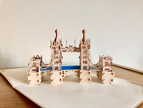 London Tower Bridge Pop up card