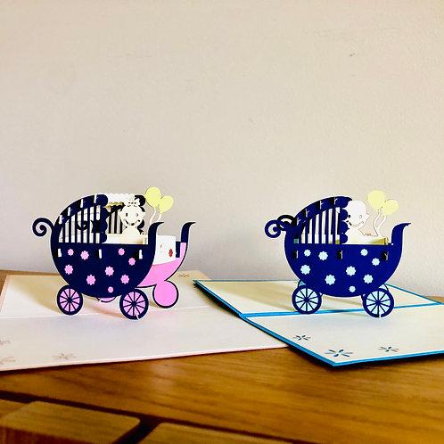 Baby Pram Pop up card