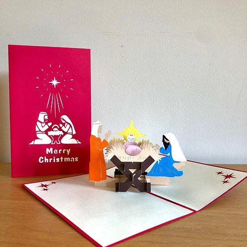 Christmas Religious Nativity pop up card