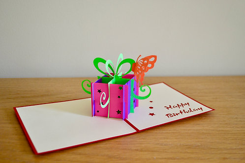 Birthday Gift box with Butterfly