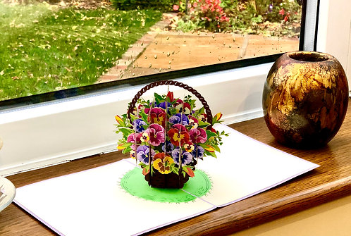 Pansy pop up card