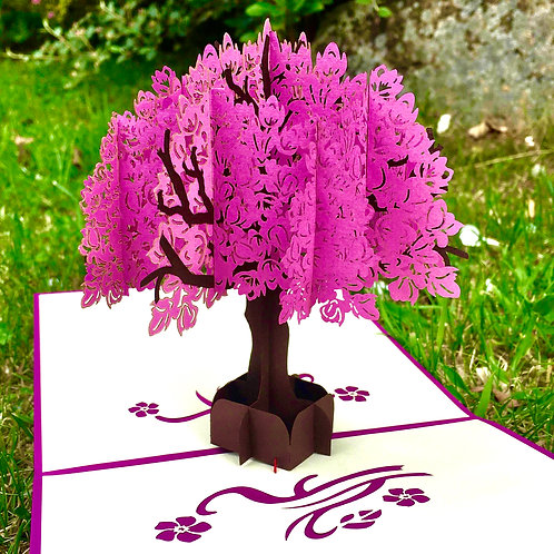 Magnolia tree pop up card
