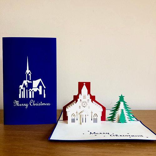 Christmas Church pop up card