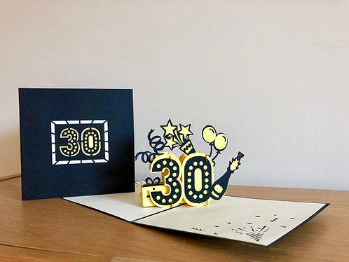 30th Birthday Pop up card