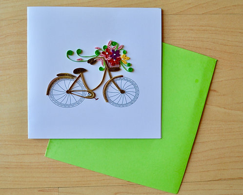 Bicycle Quilling card