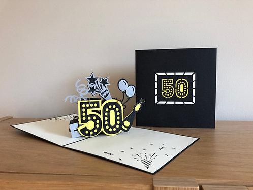 50th Birthday Pop up card