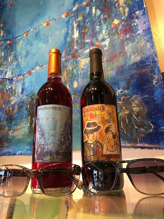 Wine label reveal