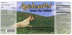 Ageless pet, product sticker