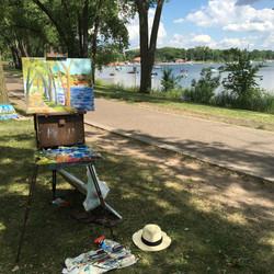 Lake Calhoun Boat Scene