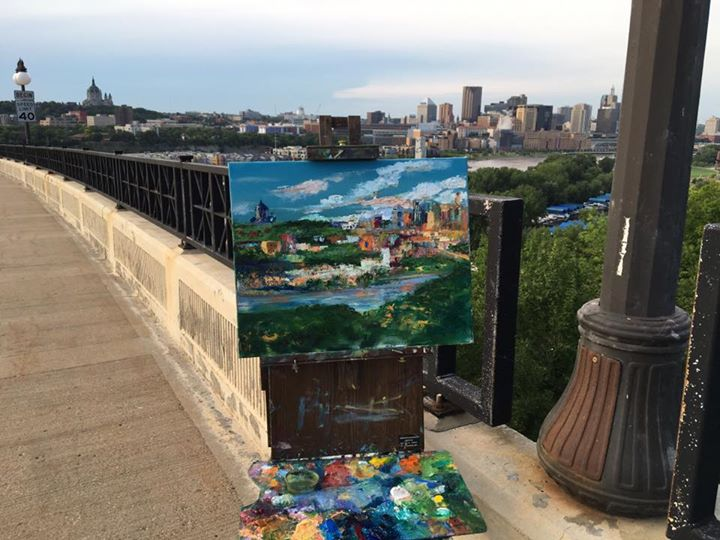 In progress Smith Bridge Painting
