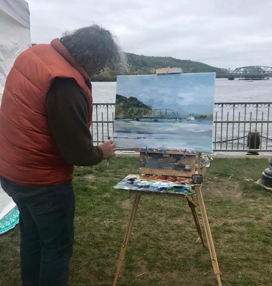 Painting on the Riverfront!