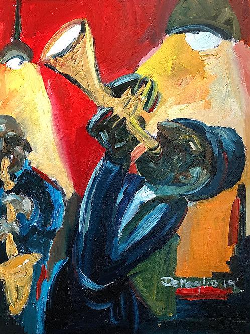 "Harlem Jam  16""x20"" Oil on canvas"