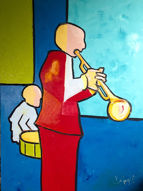 The Trumpeter and the drummer