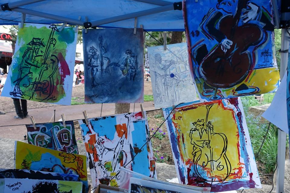 Booth taken at Jazz Fest 2015