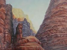 Kaňon ve Wadi Rum