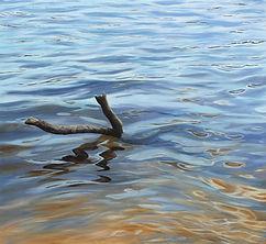 08 Hladina jezera, 2019, 125 x 115 cm, o