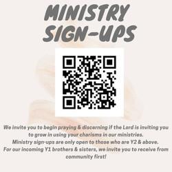AY21/22 Ministry Signups