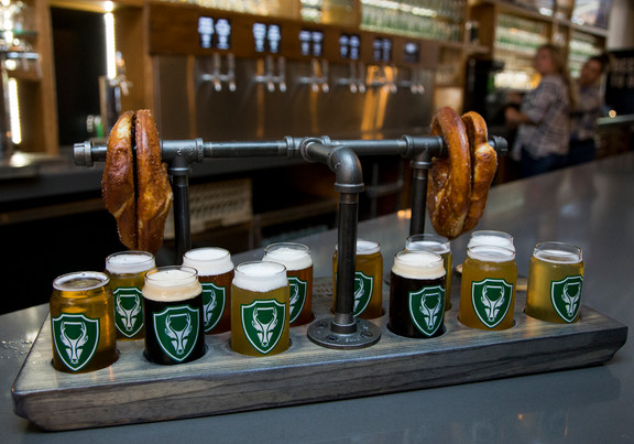'All 12' Spent Grain Pretzel Flight