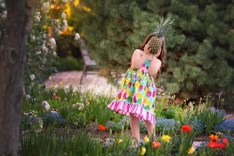 commercial, natural light, pineapple, dress