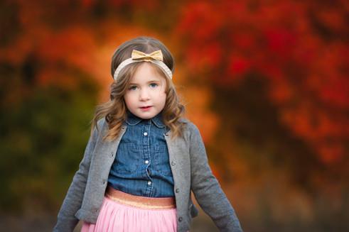 girl, fall, foliage, natural light, gap kids
