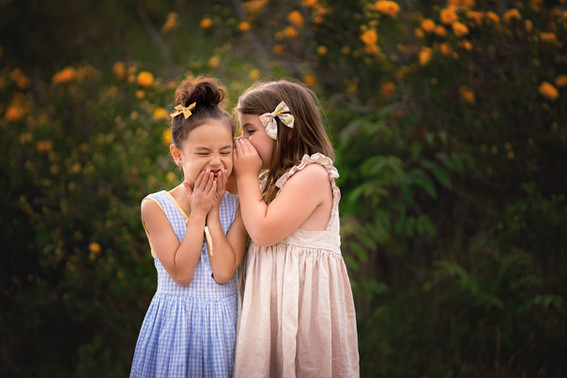 laughter, girls, nature, natural light, commercial, photography, bows, dresses