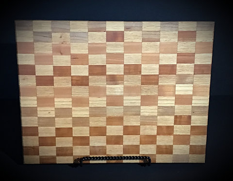 Checker pattern cutting board-SOLD but can custom make within 7 days
