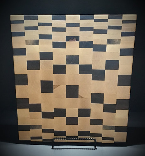 Random checker pattern cutting board