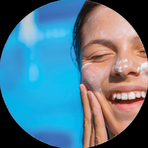 UV sun burn skin protection.