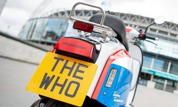 Scomadi The Who edition rear view wembley