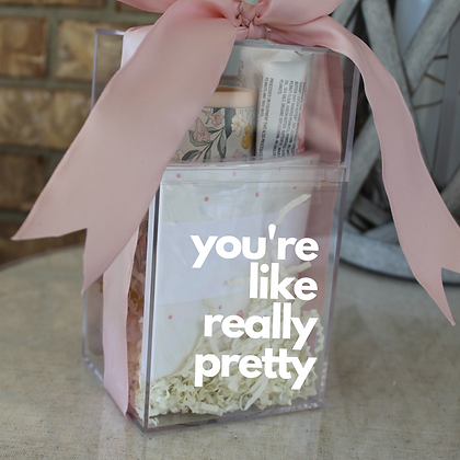 Personalized Pretty in Pink Gift Cube