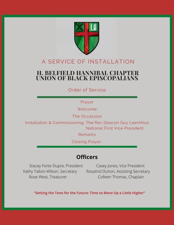 Installation of H. Belfield Hannibal Officers