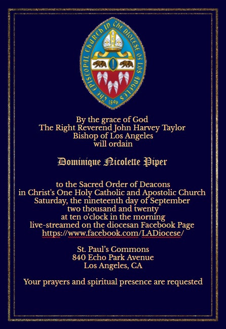 ordination announcement