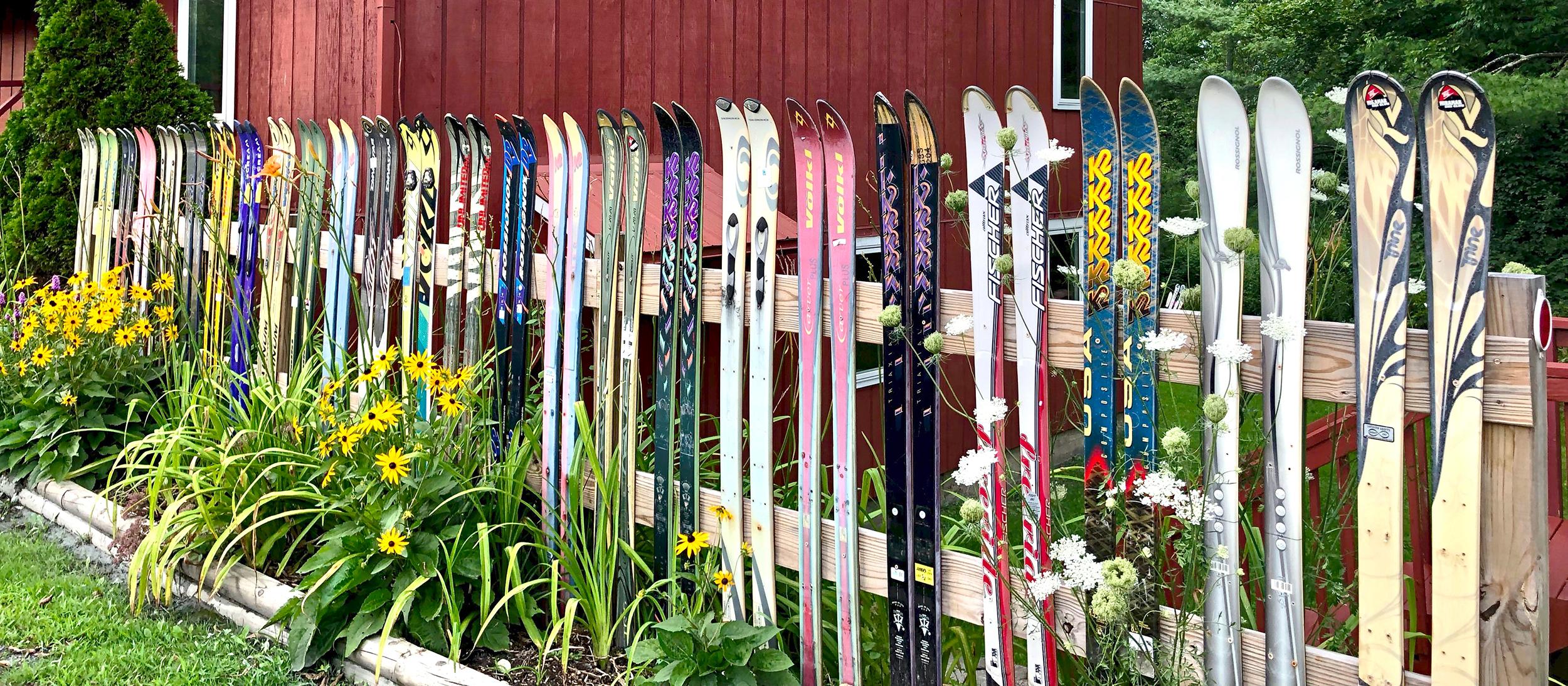 barn ski fence