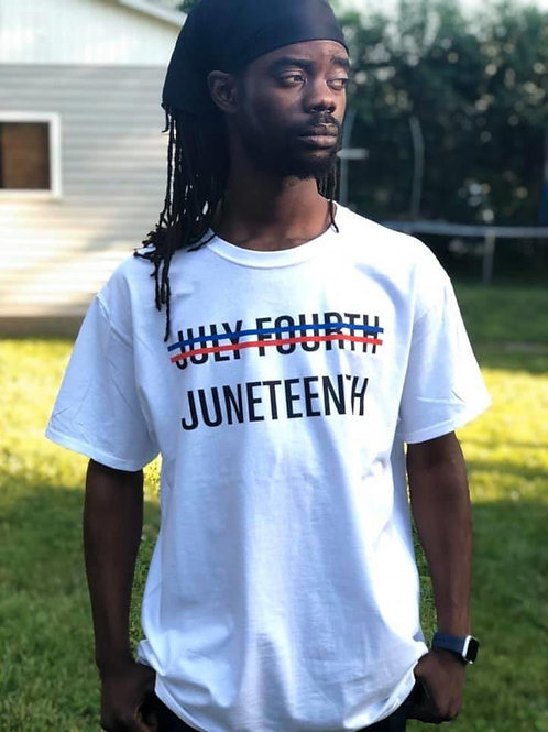 NO July Fourth JUNETEENTH tee