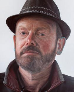 Man with blue ears, Kyle Barnes, 102x81cm